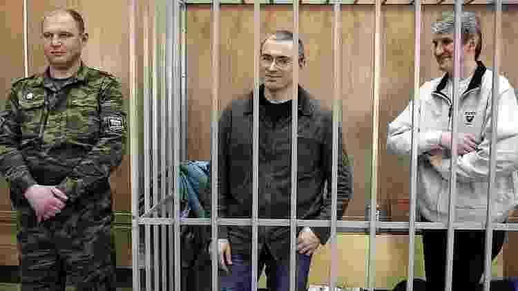 Mikhail Khodorkovsky e Platon Lebedev cumpriram dez anos de prisão na Rússia. - Getty Images - Getty Images