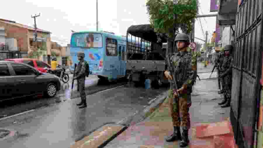 No Ceará, 122 pessoas foram assassinadas entre quarta e domingo, quando o policiamento no Estado ficou comprometido pela paralisação de policiais - AFP
