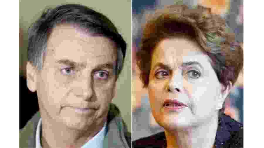 Jair Bolsonaro e Dilma Rousseff - Ricardo Moraes/Reuters/Evaristo Sá/AFP