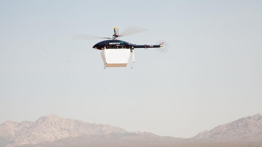 Drone voou por 16km para transportar um rim em Las Vegas, nos EUA - Foto/Divulgação