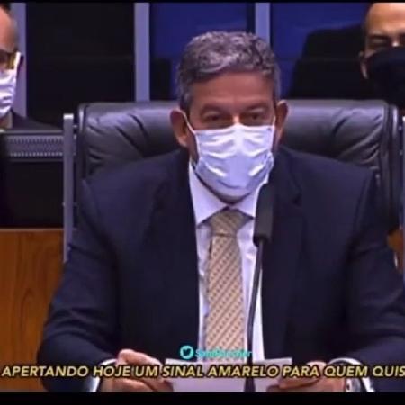 Presidente da Câmara, Arthur Lira criticou a criação de uma CPI para apurar a condução do governo durante a pandemia - Reprodução/Youtube