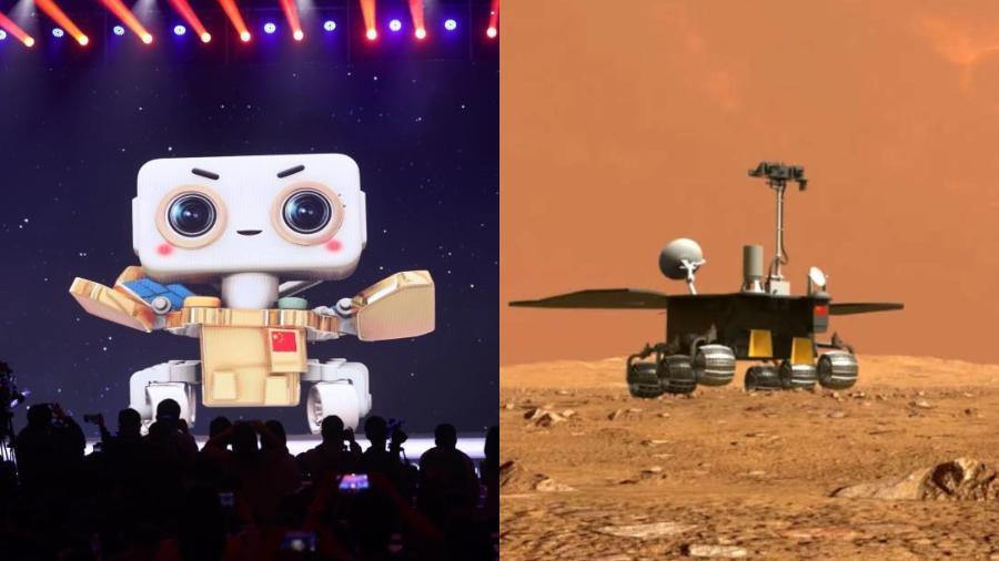 Zhurong, a sonda chinesa a caminho de Marte - Divulgação/CNSA