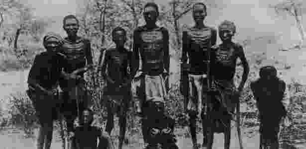 Muitas mortes foram causadas por fome e sede - Arquivo Nacional da Namíbia - Arquivo Nacional da Namíbia