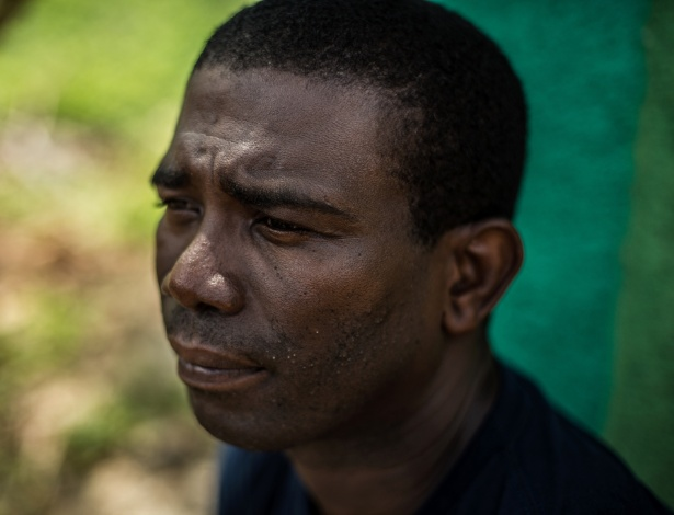 Guy Philippe em seu vilarejo natal, Pestel, no Haiti