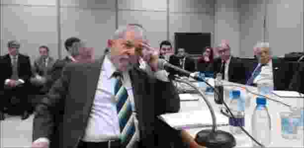 Lula depôs a Moro por quase cinco horas nesta quarta-feira - Reprodução