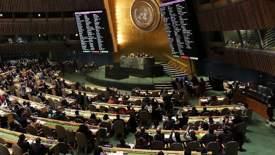 Assembleia na ONU, em Nova York - Spencer Platt/Getty Images/AFP
