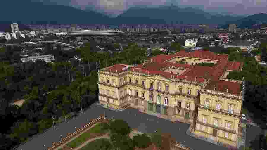 Vista aérea do Museu Nacional, no Rio de janeiro, antes do incêndio - Fábio Motta/Estadão Conteúdo