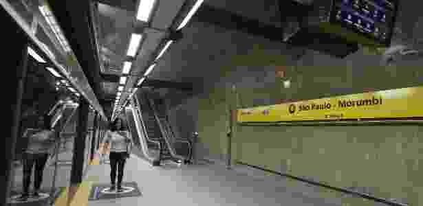 Estação São Paulo-Morumbi da linha 4-Amarela do metrô paulista - Felipe Rau/Estadão Conteúdo