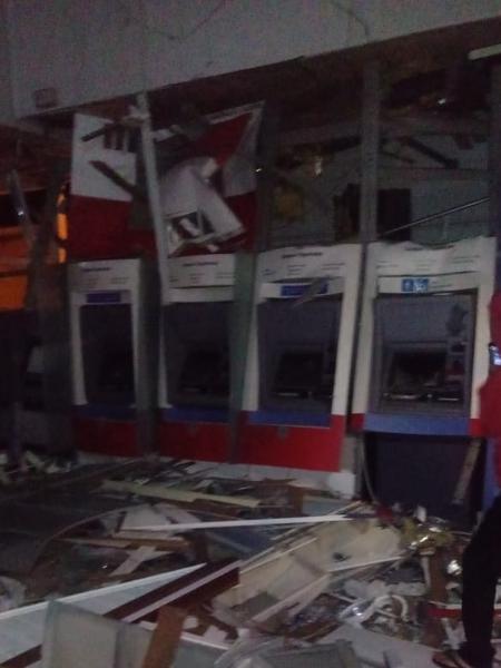 Agência bancária alvo de explosão e furto em Campos do Jordão (SP) - Arquivo pessoal