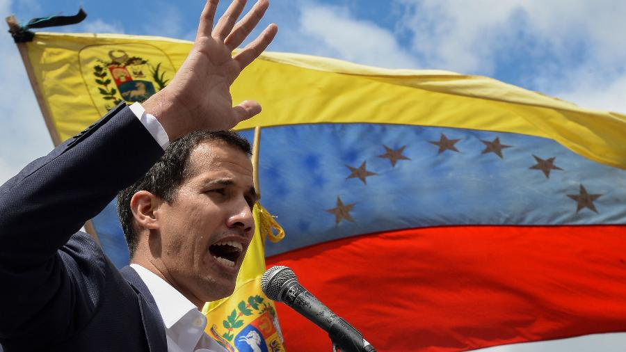 O presidente da Assembleia Nacional da Venezuela, deputado opositor Juan Guaidó - FEDERICO PARRA/AFP