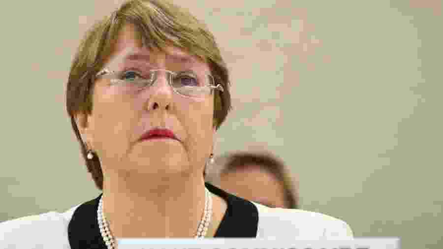 6.mar.2019 - Chefe de direitos humanos da Organização das Nações Unidas (ONU), Michelle Bachelet - Denis Balibouse/Reuters