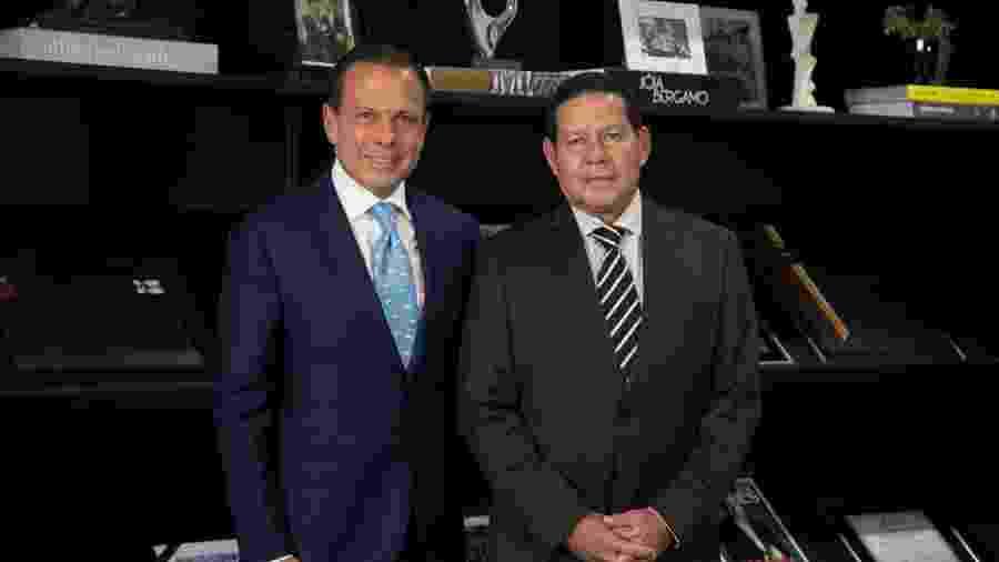 Mourão durante encontro de cortesia com o governador de São Paulo, João Dória - Romério Cunha/VPR