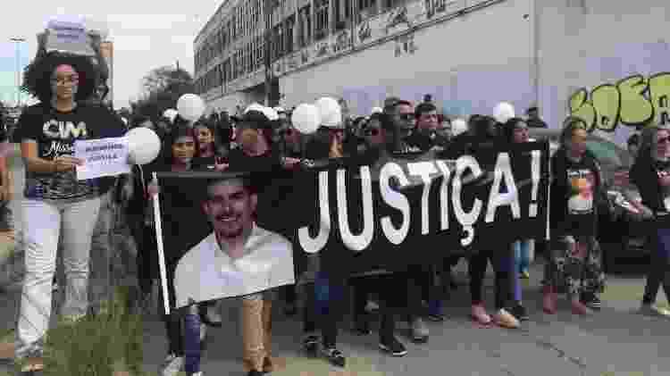 21.jul.2019 - Ato pede justiça para o caso e questiona o desaparecimento do celular do pastor Anderson do Carmo - Marina Lang/UOL