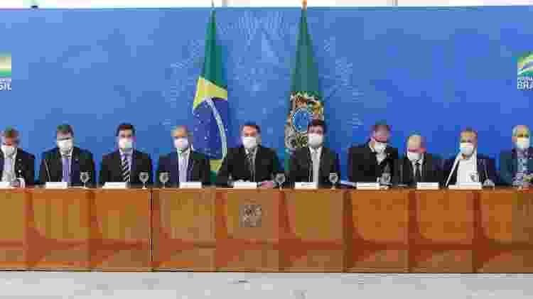 Com máscaras, Bolsonaro e ministros falam sobre coronavírus e medidas do Governo Federal - DIDA SAMPAIO/ESTADÃO CONTEÚDO - DIDA SAMPAIO/ESTADÃO CONTEÚDO