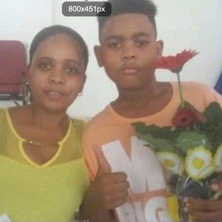 João Pedro com a mãe, Rafaela - Arquivo Pessoal