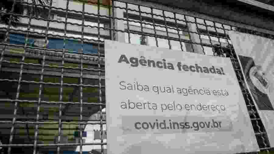 Agência do INSS em Limeira (SP) permanecia fechada nesta quinta-feira (17); peritos não reconhecem vistoria do governo - ROBERTO GARDINALLI/ESTADÃO CONTEÚDO