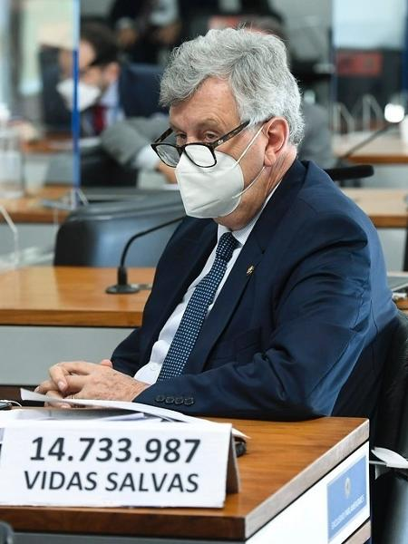 27.mai.2021 - O senador governista Luis Carlos Heinze (PP-RS) - Jefferson Rudy/Agência Senado