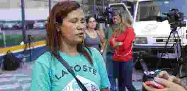 28.dez.2016 - Maria Aparecida Cavalcanti, parceira de trabalho de Luiz Carlos Ruas, fala sobre o colega, ambulante, que foi espancado até a morte na noite do último domingo (25) - NEWTON MENEZES/FUTURA PRESS/ESTADÃO CONTEÚDO - NEWTON MENEZES/FUTURA PRESS/ESTADÃO CONTEÚDO