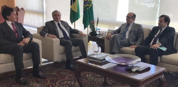 O presidente Temer se encontra com os presidentes da Câmara, do Senado e do TSE