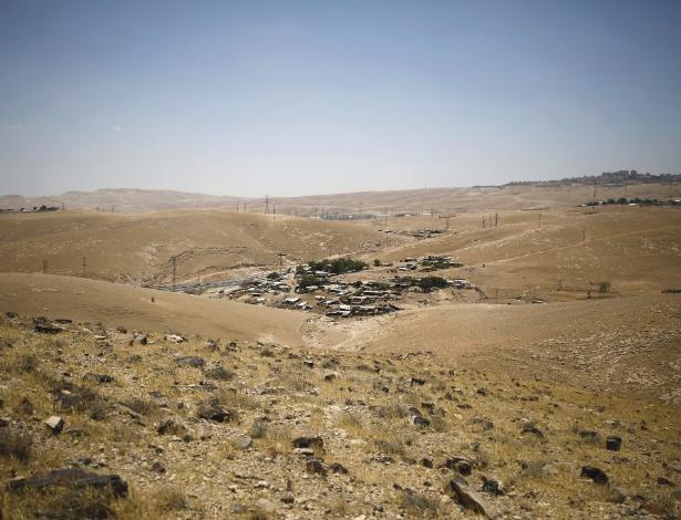 Aldeia beduína de Khan Al-Ahmar na Cisjordânia - Corinna Kern/The New York Times