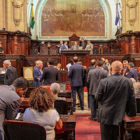 Deputados estaduais durante sessão na Alerj (Assembleia Legislativa do Estado do Rio de Janeiro) - Rafael Wallace/Divulgação/Alerj