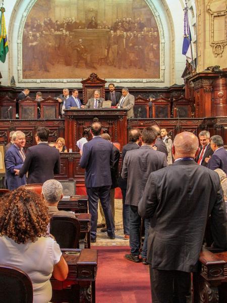 Parlamentar pediu deixar a prisão no dia 1º de fevereiro para tomar posse na Assembleia Legislativa do Rio de Janeiro - Rafael Wallace/Divulgação/Alerj