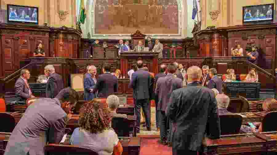 20.dez.2018 - Deputados estaduais durante sessão na Alerj (Assembleia Legislativa do Estado do Rio de Janeiro) - Rafael Wallace/Divulgação/Alerj