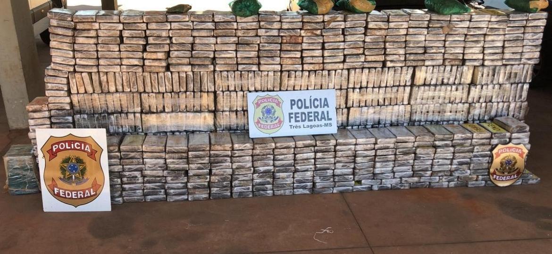 Polícia Federal apreende 954 kg de cocaína em Três Lagoas (MS) - Polícia Federal/Divulgação