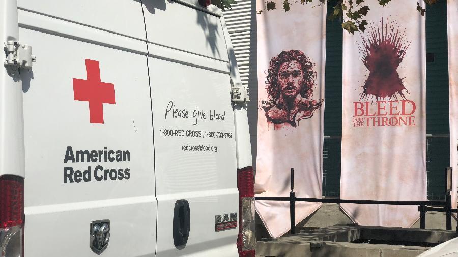 """Campanha de doação de sangue para promover a 8ª temporada de """"Game of Thrones"""" - Divulgação"""