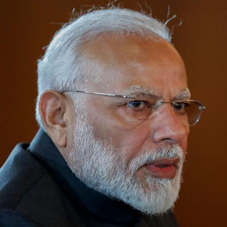 Narendra Modi, primeiro-ministro da Índia - Pavel Golovkin / AFP