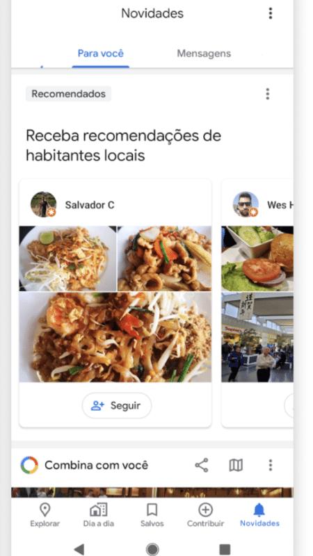 Google Maps: aba 'Novidades' - Divulgação/Google
