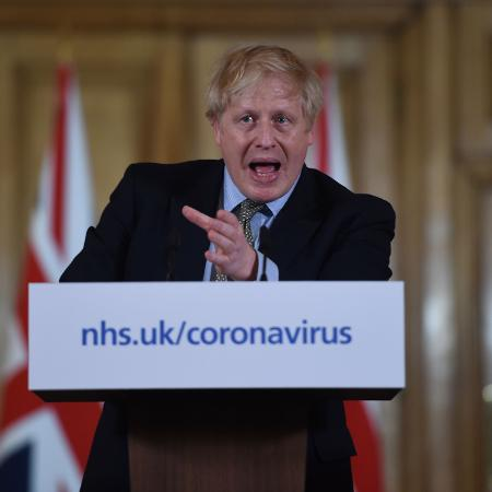Boris Johnson, premiê britânico - EDDIE MULHOLLAND/AFP