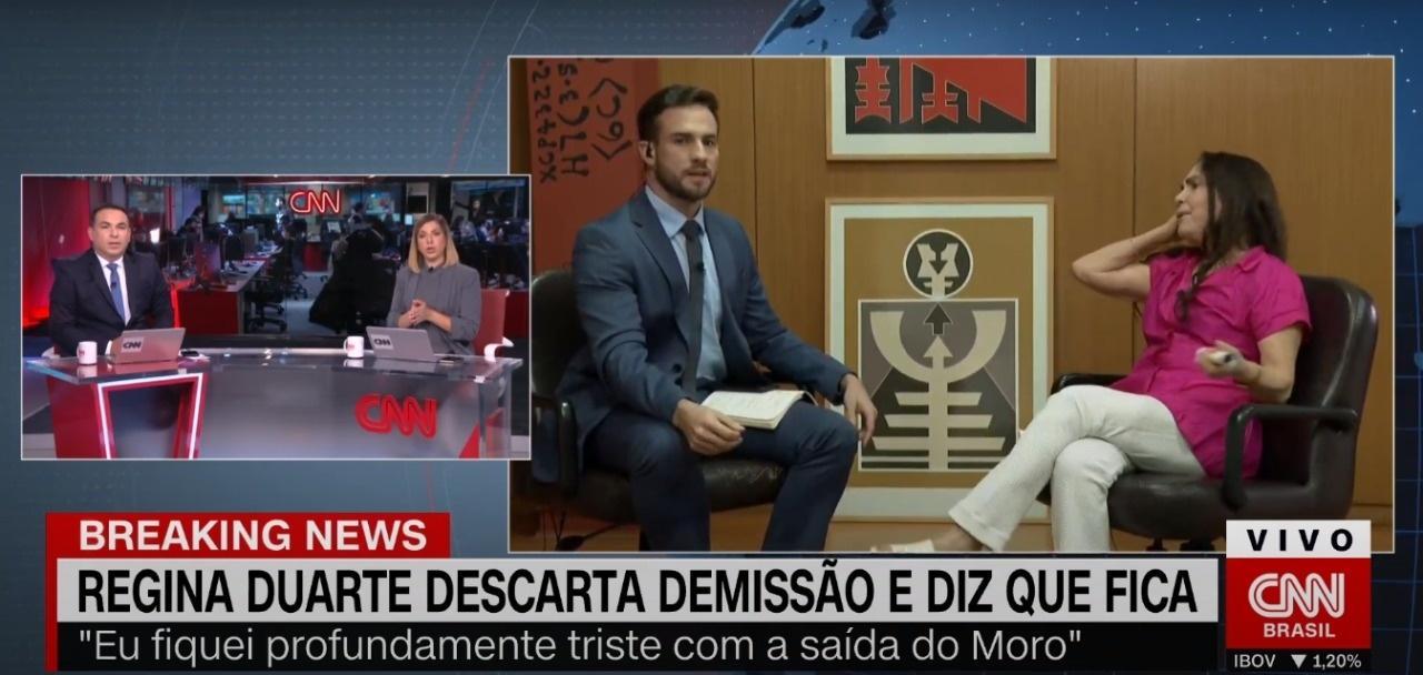 Regina Duarte se irrita com vídeo de Maitê Proença na CNN Brasil ...