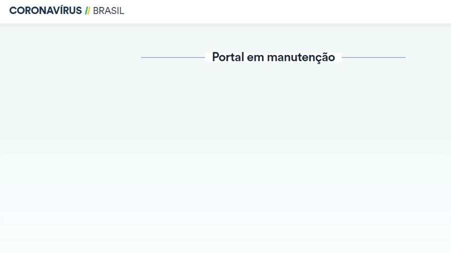 Portal oficial do Ministério da Saúde com atualizações diárias sobre a pandemia do coronavírus no Brasil sai do ar na noite de hoje - Reprodução