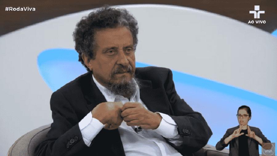João Santana, responsável pelas campanhas presidenciais do PT em 2006, 2010 e 2014, em entrevista ao Roda Viva - Reprodução/TV Cultura