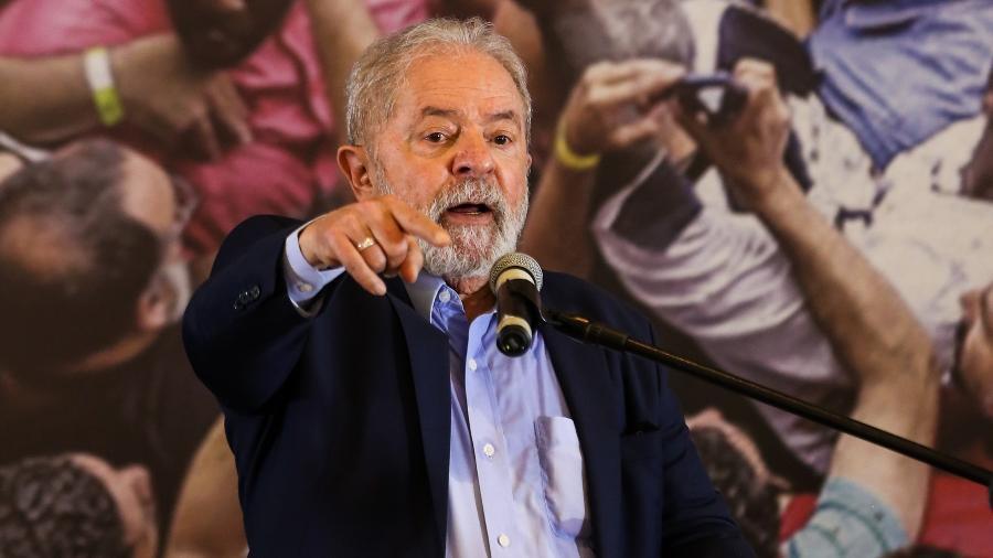 Lula discursando - Marcelo D. Sants/Framephoto/Estadão Conteúdo
