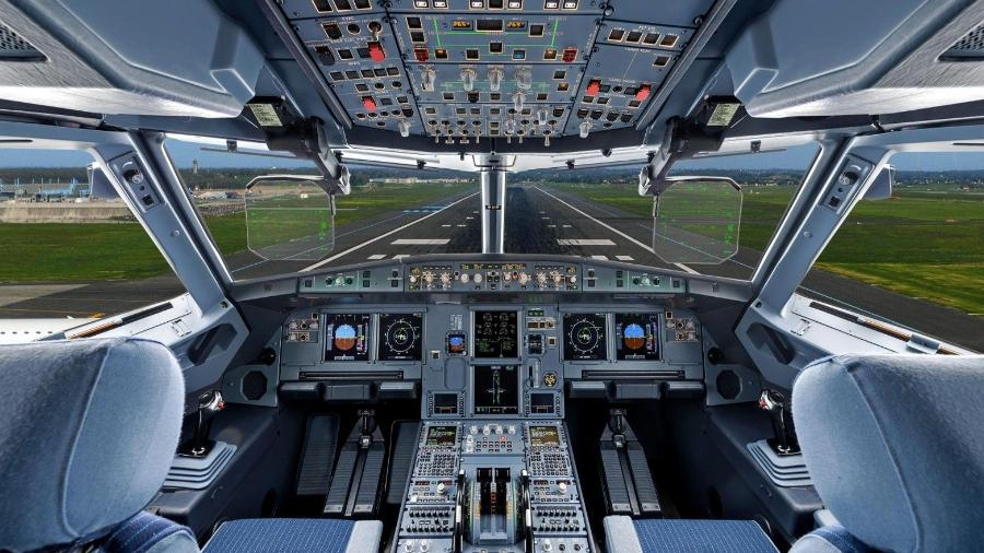 Grande parte da frota mundial de aviões pertence a empresas de leasing. Na foto, a cabine de comando do Airbus A320 - Divulgação/Airbus
