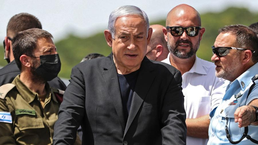 O primeiro-ministro de Israel, Benjamin Netanyahu - Ronen Zvulun/Pool/AFP