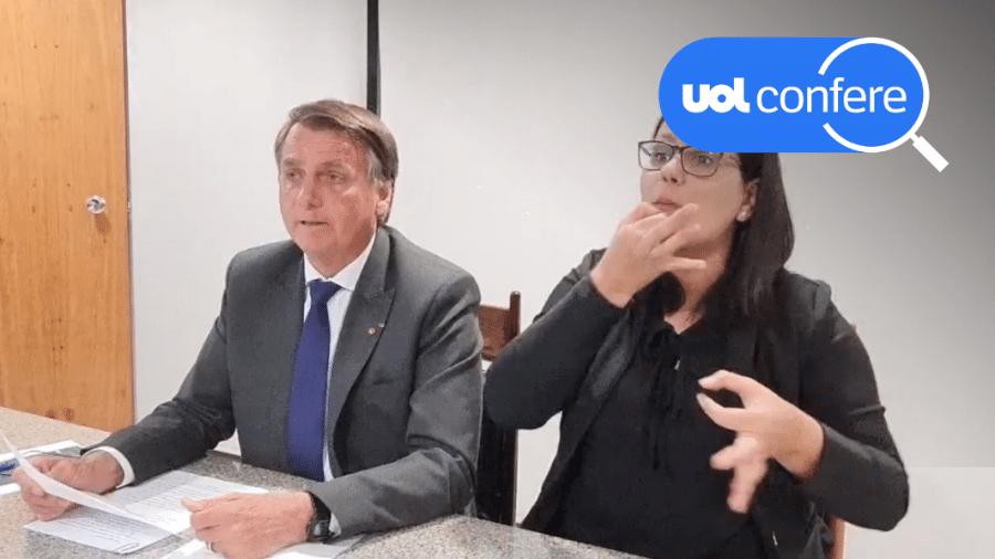 9.set.2021 - O presidente Jair Bolsonaro (sem partido) em sua live semanal - Arte sobre reprodução/YouTube Jair Bolsonaro