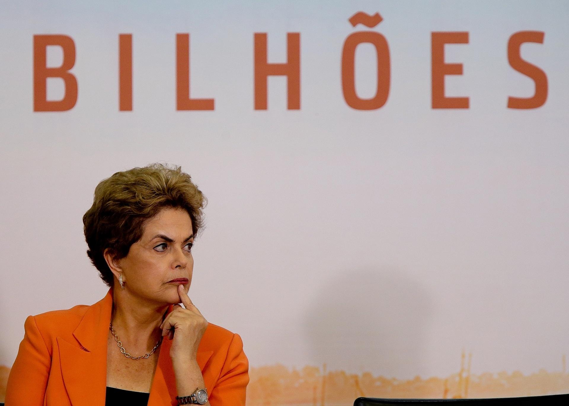 4.mai.2016 - A presidente Dilma Rousseff lança Plano Safra 2016-2017, no Palácio do Planalto, em Brasília