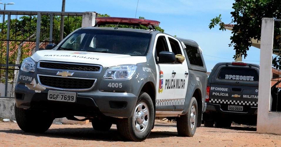 18.jan.2017 - Movimentação para transferência no presídio Alcaçuz, em Nisia Floresta (RN)