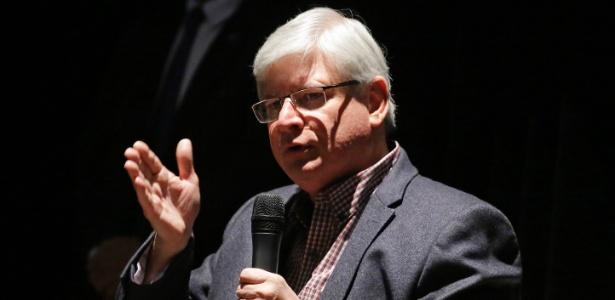O procurador-geral da República, Rodrigo Janot, durante o Congresso da Abraji