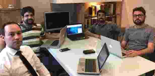 Os sócios da NãoVoei.com (da esq. para a direita): Leonardo Soares, Alexandre Freitas, Gabriel Motta e Alexandre Monteiro - Divulgação