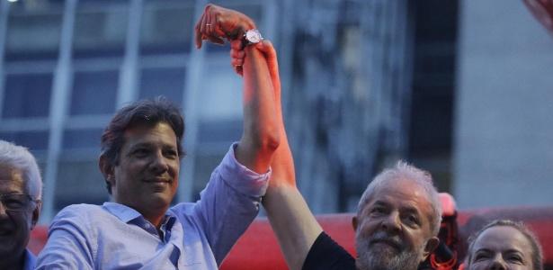 Haddad foi anunciado como vice de Lula na chapa do PT para a eleição presidencial