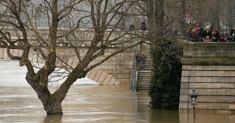 27.jan.2017 - Nível do rio Sena sobe e Paris enfrenta risco de inundação