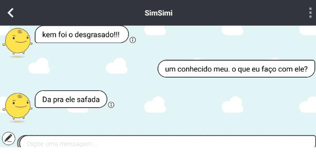 simsimi - Reprodução - Reprodução