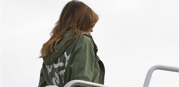 Melania Trump usou jaqueta da fast-shop Zara - Getty Images