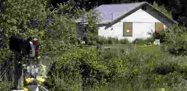Casa onde as vítimas foram mortas; Duncan teria observado a família por dias antes do ataque  - 25.mai.2005 --Jeff T. Green/Getty Images - 25.mai.2005 --Jeff T. Green/Getty Images