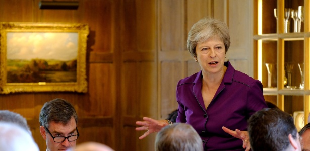 A primeira-ministra britânica, Theresa May - Joel Rouse/Reuters