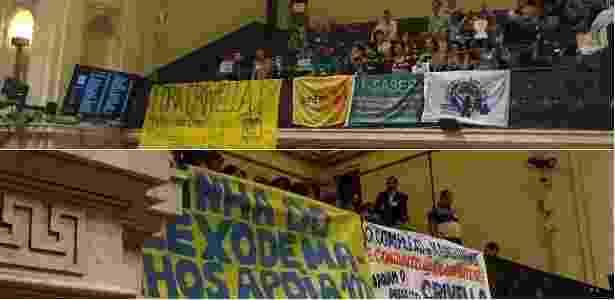 Críticos e apoiadores de Crivella na Câmara Municipal - UOL